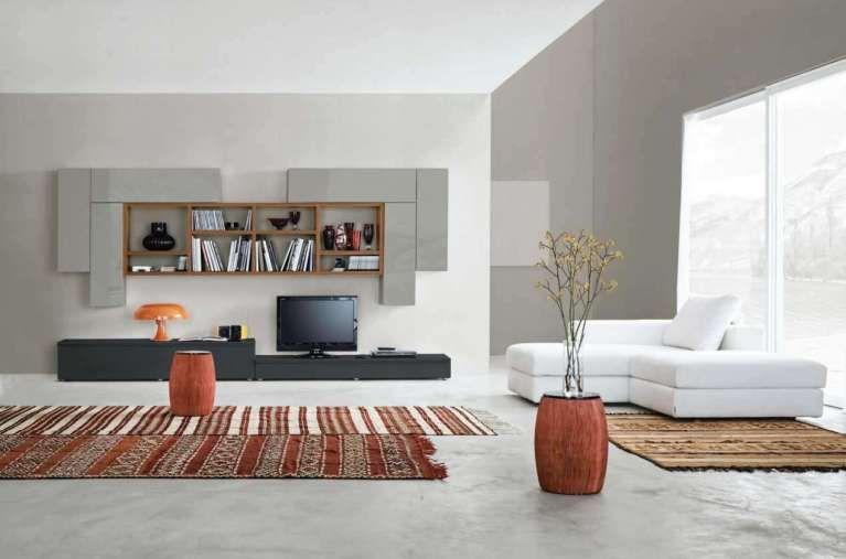 Arredare il soggiorno con il color tortora - Soggiorno arredato con ...