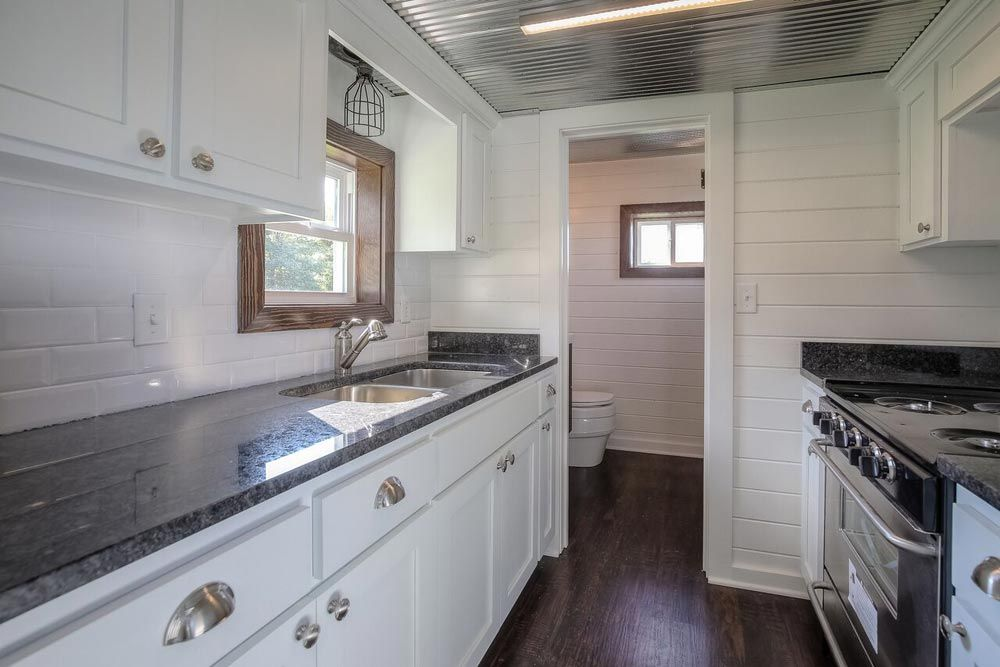 Galley Kitchen - Lake Cabin by Custom Container Living