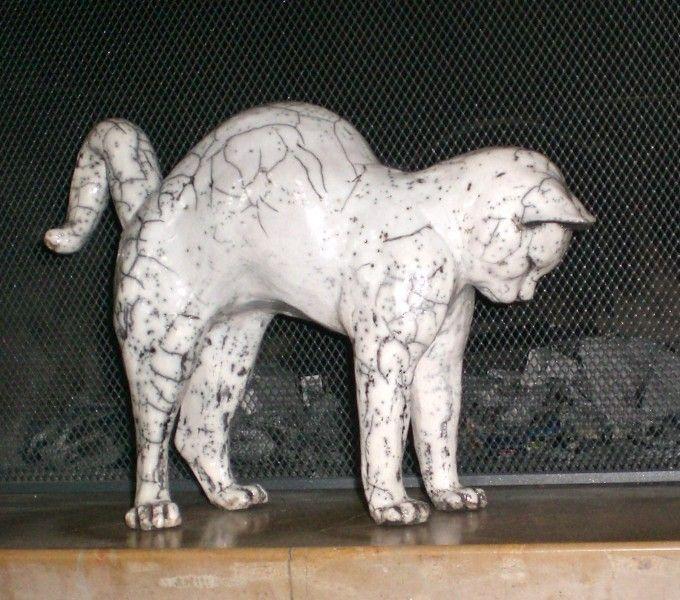 d couvrez ici mes sculptures animali res en raku sauf. Black Bedroom Furniture Sets. Home Design Ideas