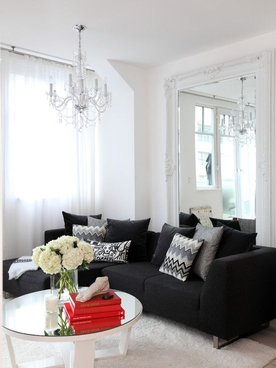 Living Room Enchanting Contemporary Black And White Living Room