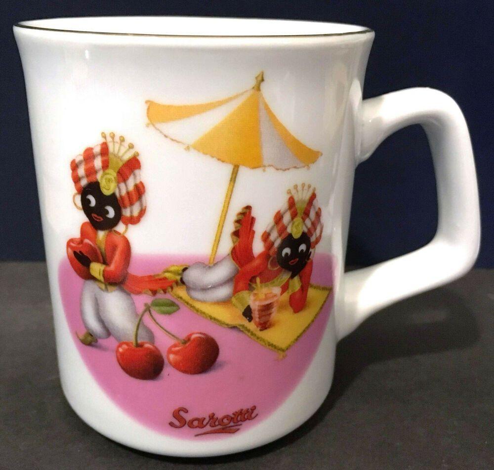 Sarotti Chocolate Coffee Mug Mascot Cherries Beach Umbrella Cup Reutter Germany Reutterporzellan Sarottichocolatemasco Best Coffee Mugs Mugs Christmas Coffee