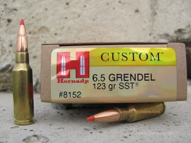 www SGAmmo com   Bulk Hornady 6 5 Grendel 123 A-Max ammo for