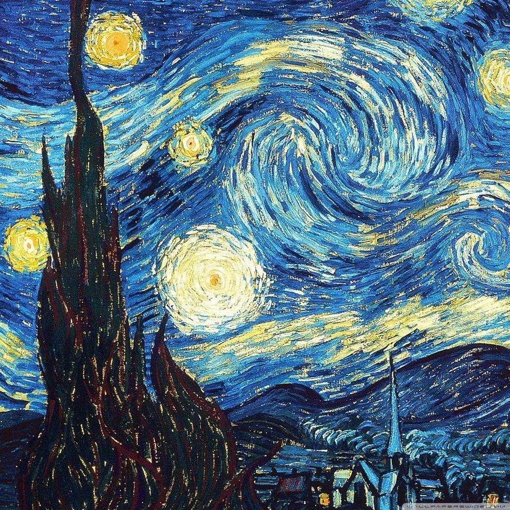 The Starry Night Hd Desktop Wallpaper Widescreen High Wallpaper Zone Starry Night Van Gogh Gogh The Starry Night Van Gogh Art