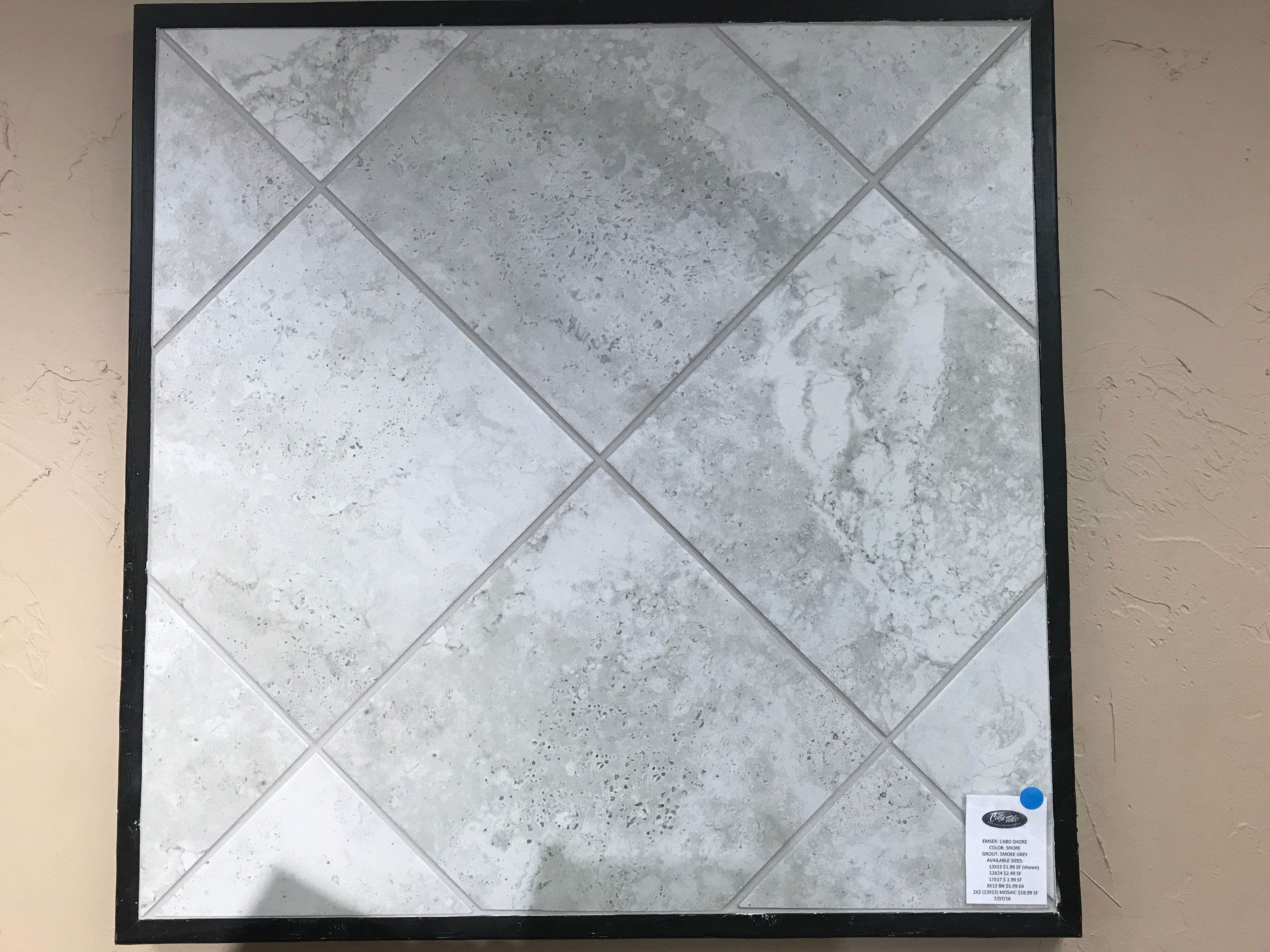 Tile Up Close Cabo Shore Light Gray With Smoke Gray Grout Grey Grout New Home Designs Cabo