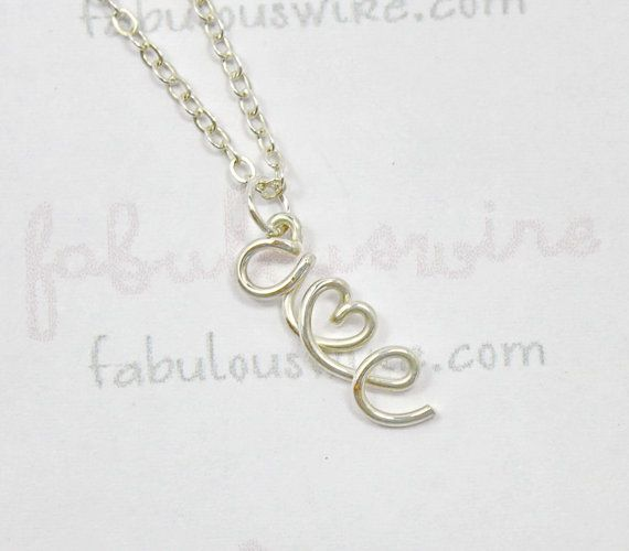 Two Initials Wire Letter With Heart Necklace, Personalized Lovers - gift letters
