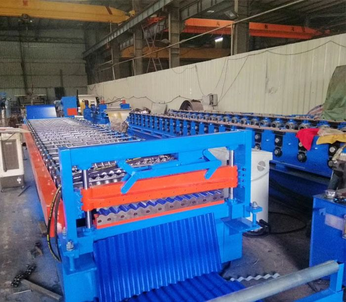 Corrugated Tile Roll Forming Machine In 2020 Roof Panels Roll Forming Corrugated Metal Roof