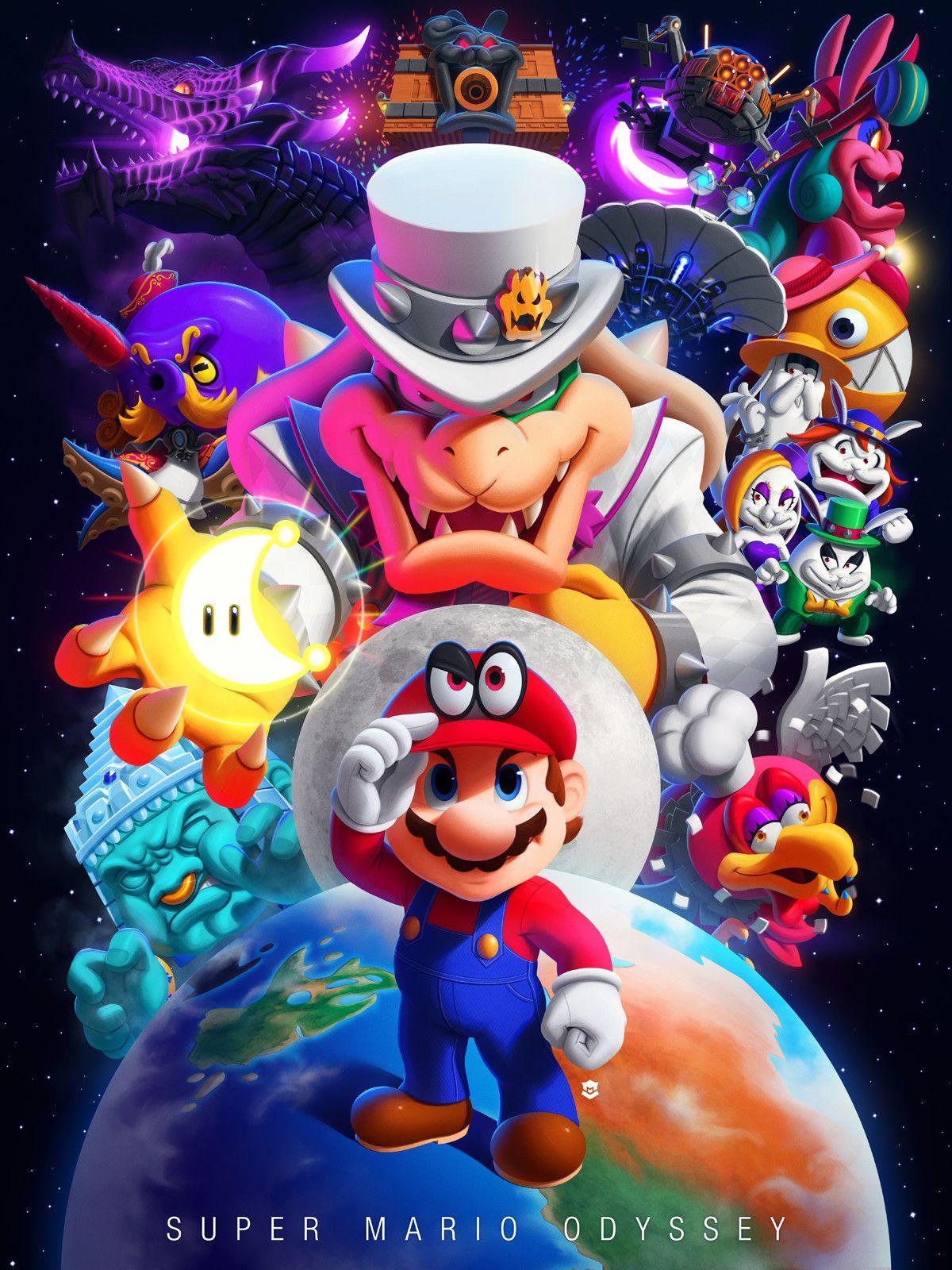 Super Mario Odyssey! | Super mario's world | Mario kart, Super mario