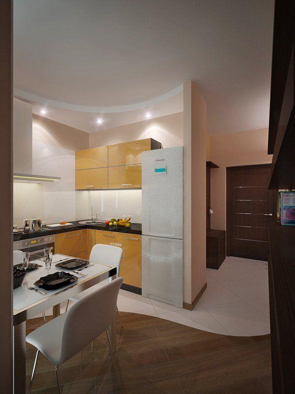 фото квартиры-студии: кухня, вид с комнаты (с ...