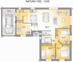 Plan maison neuve à construire - Maisons France Confort Natura 100 L ...