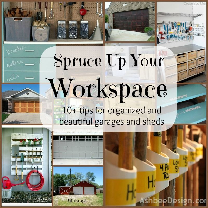 spruce up your workspace organized garages