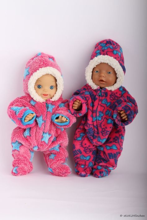 Freebie Puppen - Winteranzug \