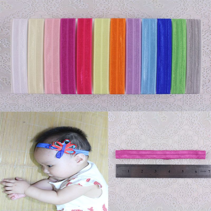 "Wholesale popular 12pc 6"" solid toddler Baby Girl Smooth elastic headband K1-YA #MyOwnUniqueDesign"