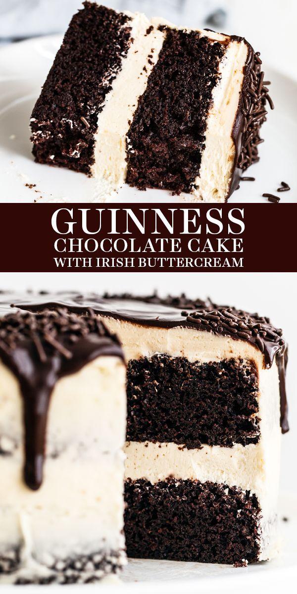 Guinness Chocolate Cake with Irish Buttercream
