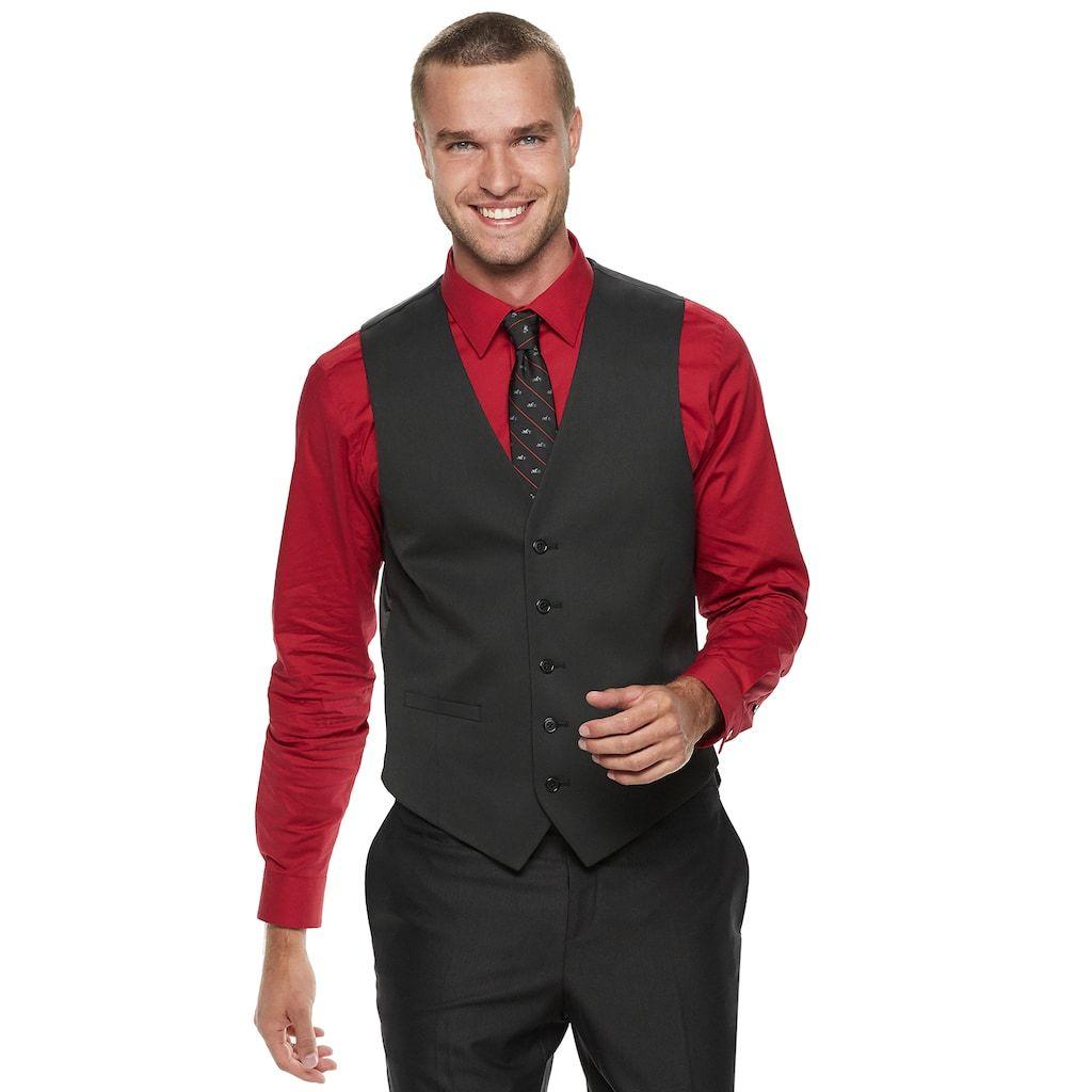 Men S Apt 9 Premier Flex Slim Fit Suit Vest In 2021 Vest Outfits Men Black Suit Vest Mens Suit Vest [ 1024 x 1024 Pixel ]