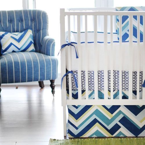 Little Gatsby Baby Bedding Blue Baby Nursery With Images