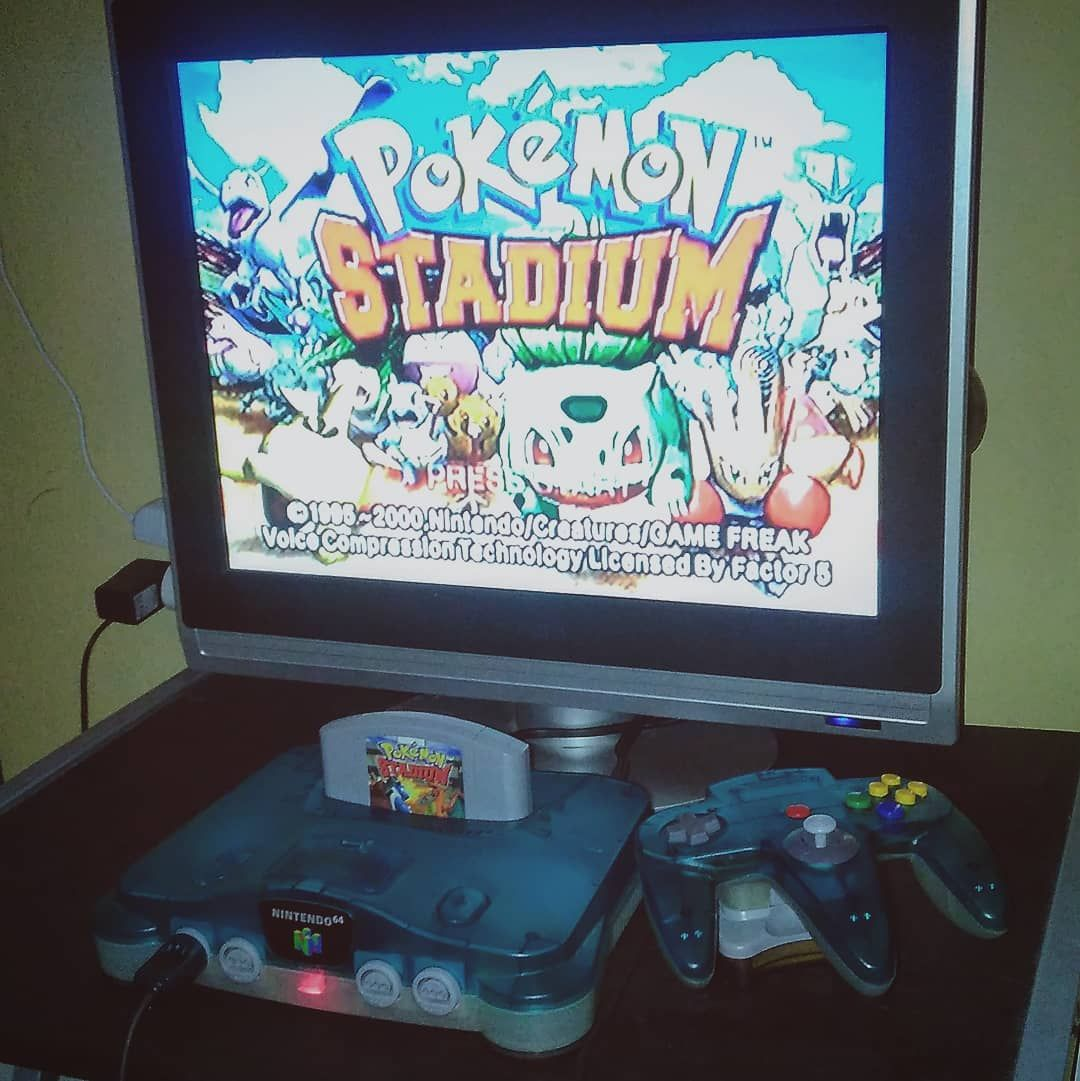 Oh yeah the flat Philips TV has new console Nintendo 64 Clear Blue ...
