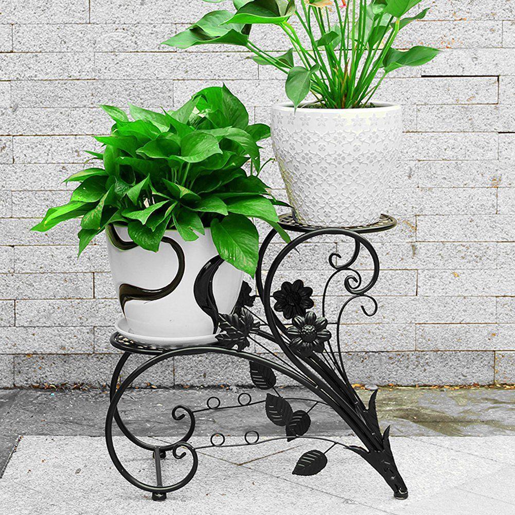 sortie en vente section spéciale disponible Support en fer pour pot de fleurs/bonsaï Décoration de ...