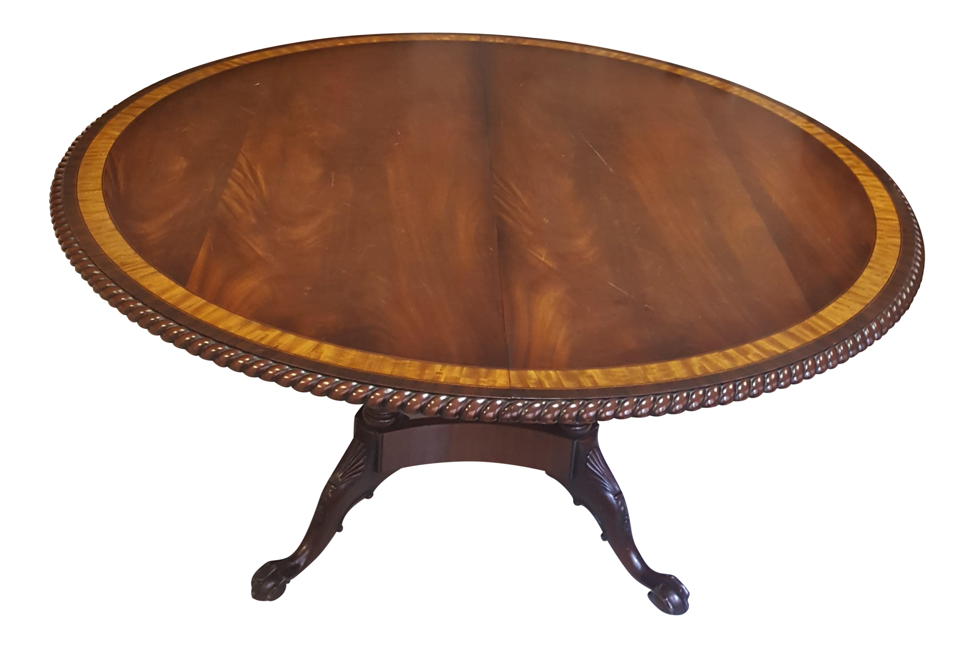 Traditional Millender Round Mahogany Dining Table On Chairish Com