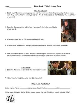 The Book Thief Part  Comprehension Questions This Product  The Book Thief Part  Comprehension Questions This Product Contains Two  Pages Of Common Core Aligned Comprehension Questions That Can Be Used While