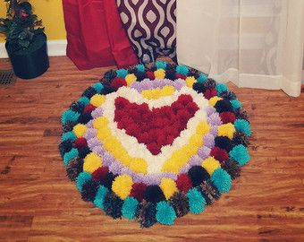 Pom Pom alfombra tapete romántico chicas salón por PomPomMyWorld