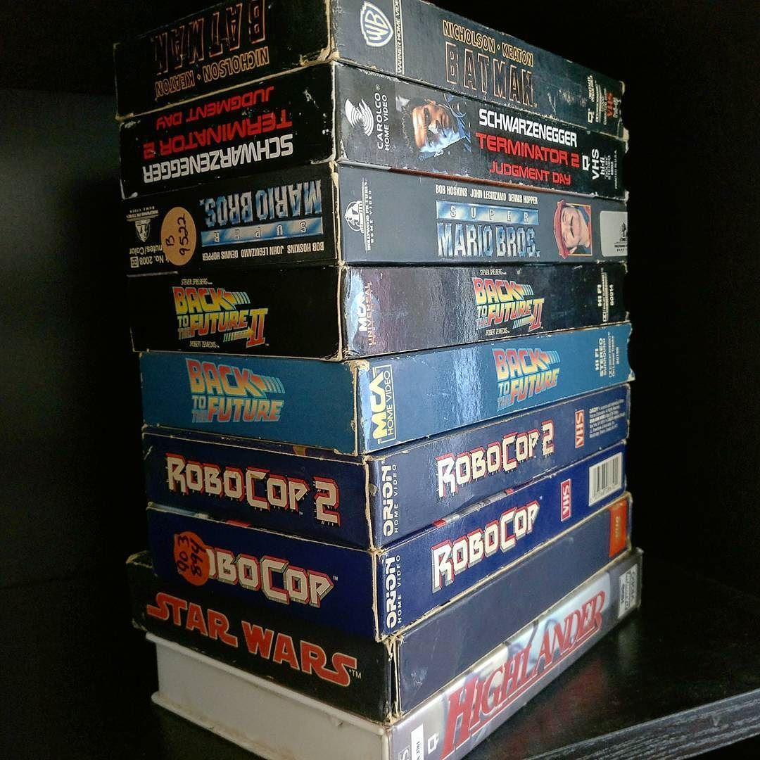 Found a treasure trove of VHS tapes for sale at a local