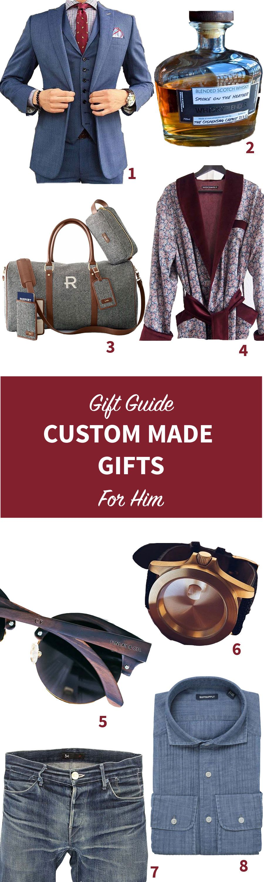 Unique Custom Made Gifts for Him