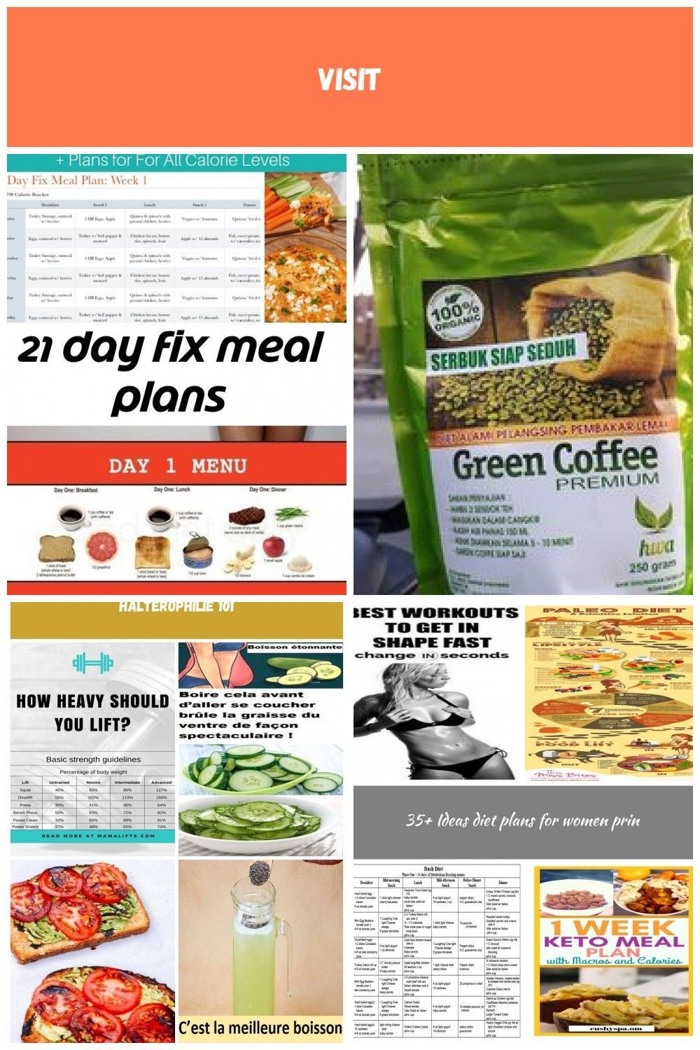 A TON of 21 Day Fix meal plans for all of the calorie brackets: 1200, 1500, 1800, and 2100. Printabl...