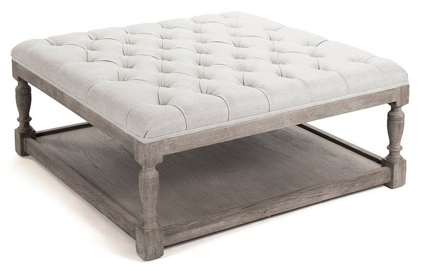 Caden Leather Rectangular Ottoman Pottery Barn We Like The Table For Feet Up And Relaxation Tahoe Living Room Pinterest Ottomans