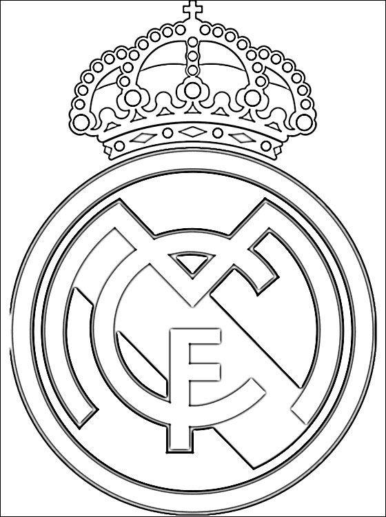 Escudo Real Madrid Club de Fútbol | Desenhos para colorir ...