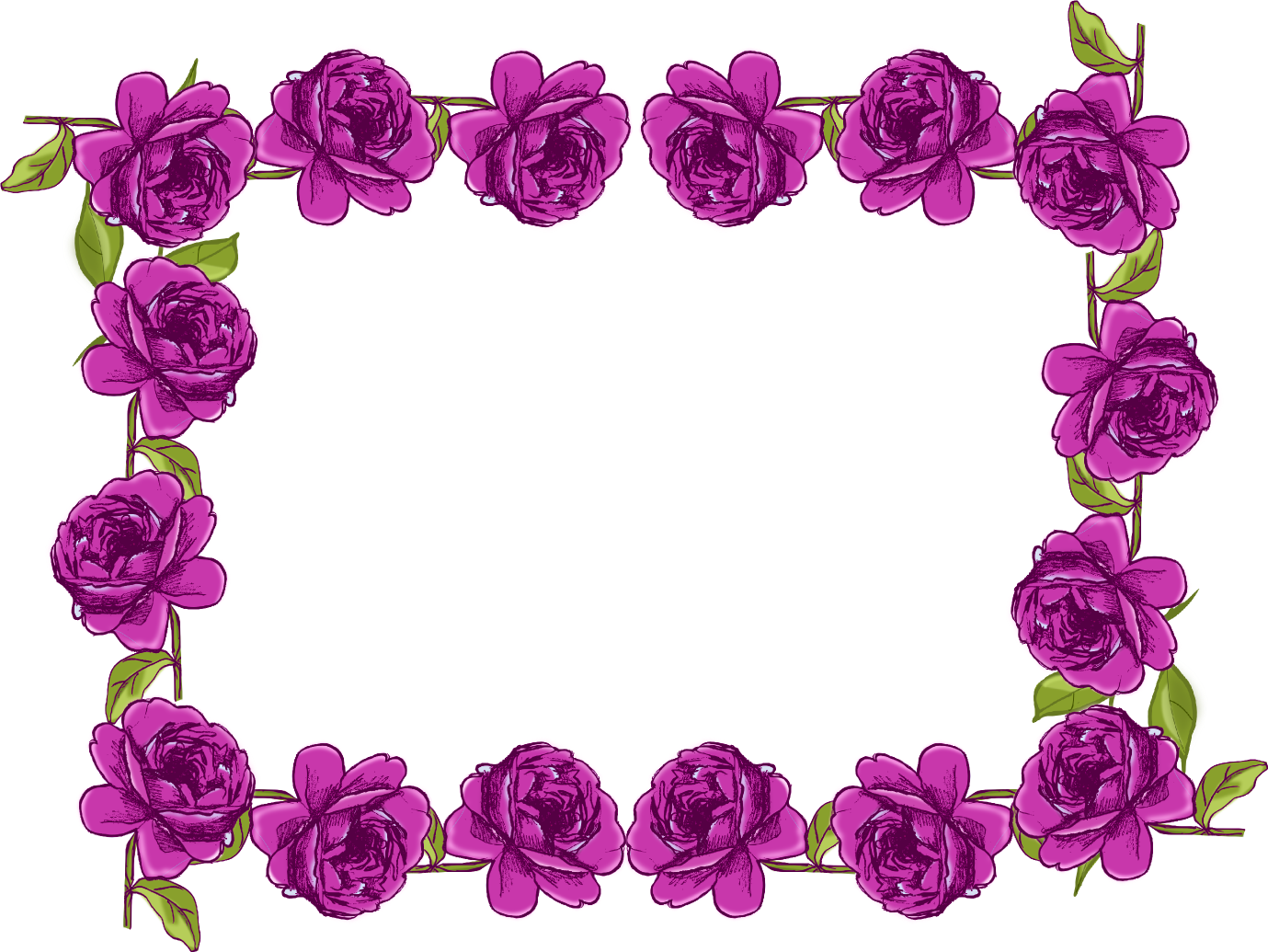 Purple Borders and Frames Free digital purple rose frame