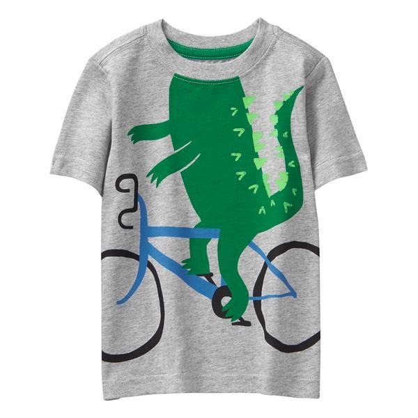 0b59224bff2a Toddler Boy Heather Grey Gator Bike Tee by Gymboree