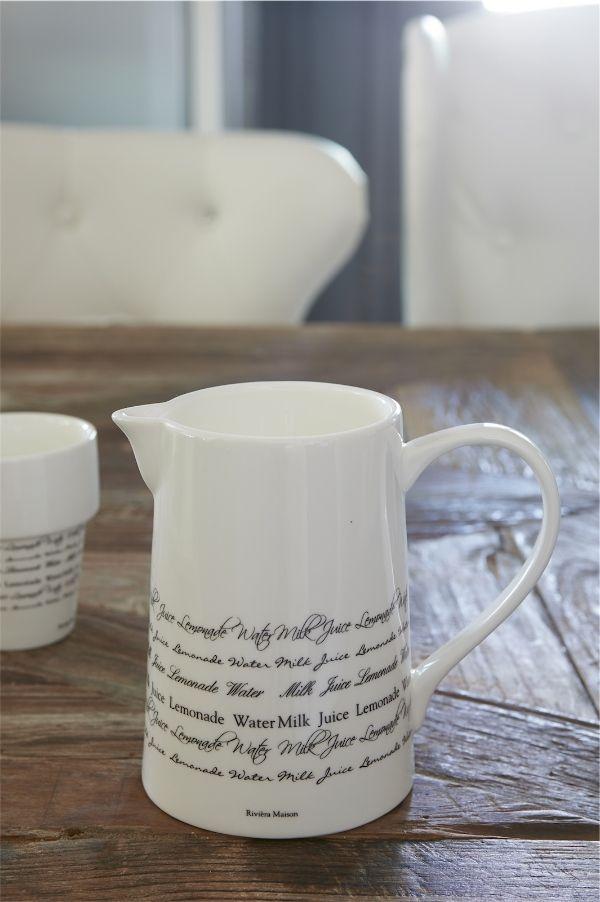 Rivièra Maison Collection ~ 'Good Morning' jug