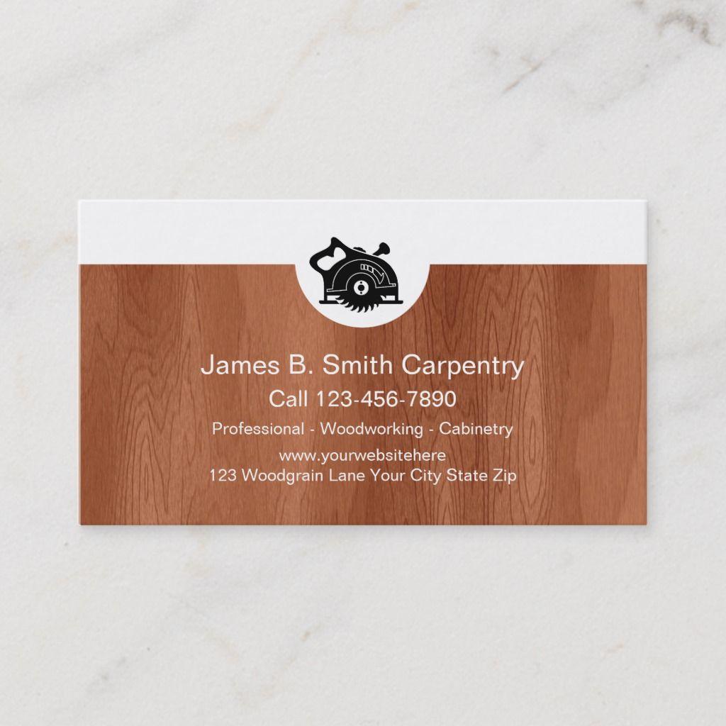 Carpenter Business Cards Zazzle Com Wooden Business Card Wooden Business Card Holder Business Cards
