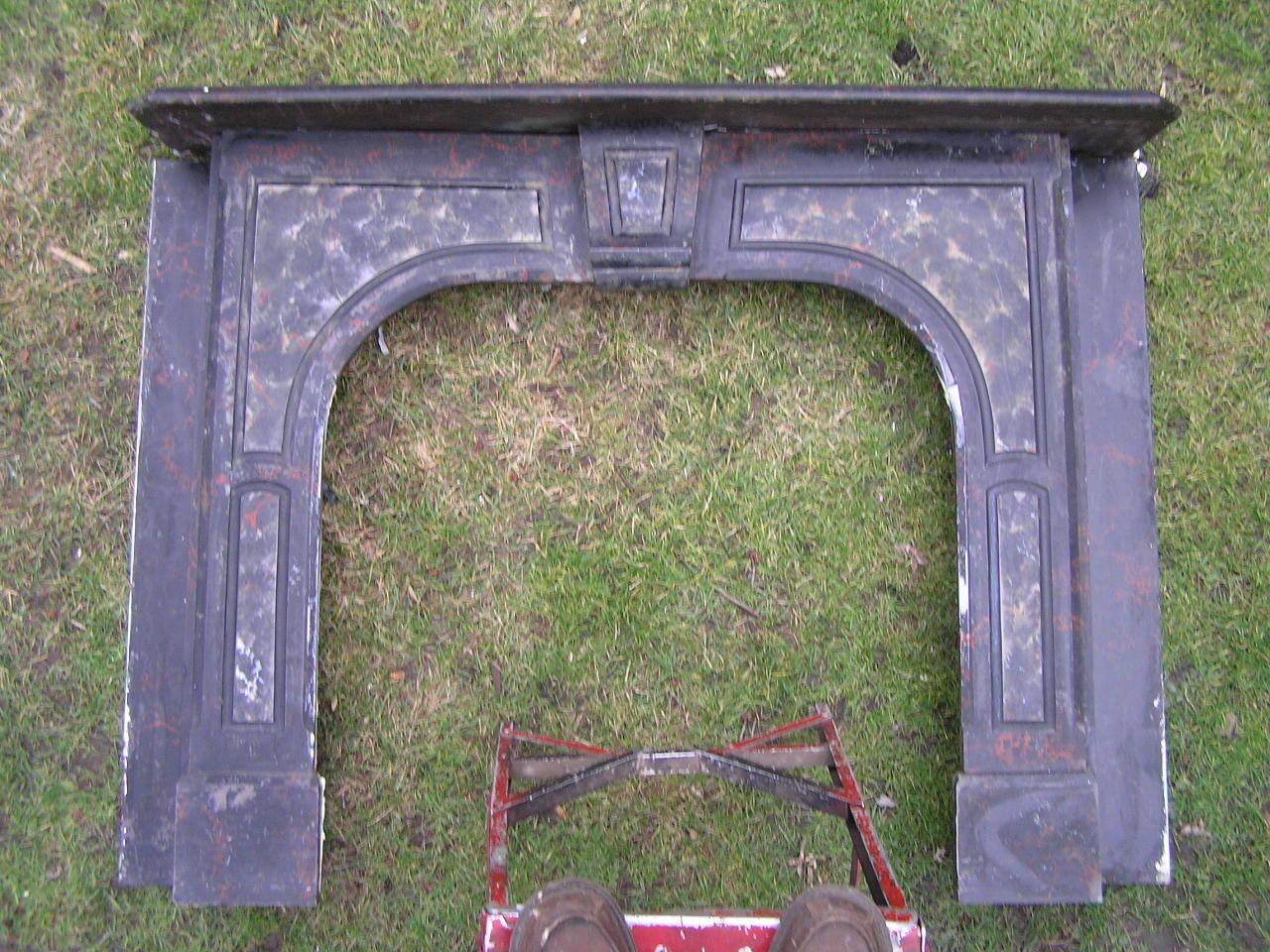 Antique Slate Fireplace Mantel Slate Fireplace Vintage Fireplace Primitive Fireplace