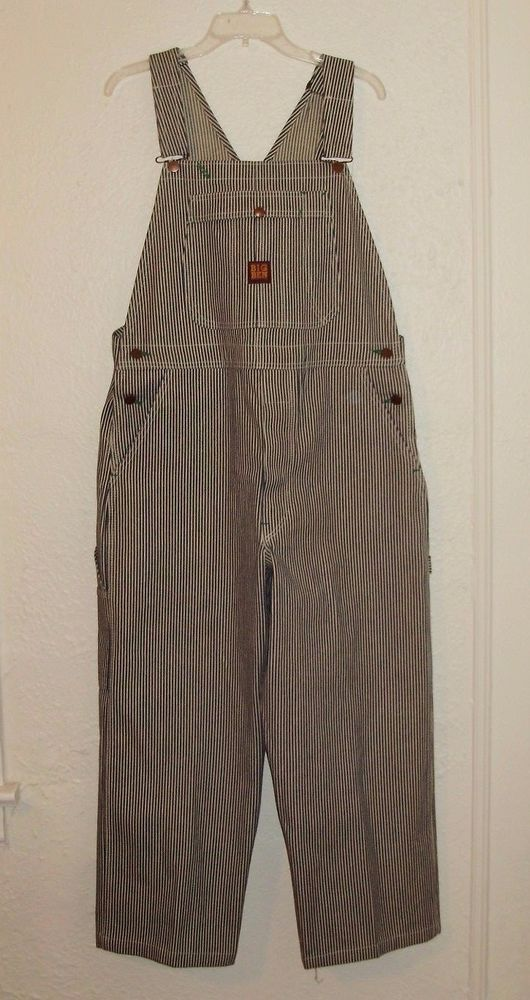 11a47f68ba10 Big Ben By Wrangler Vintage USA Men s Overalls Hickory Stripes 36x30 (  36x26)  BigBen  Overalls