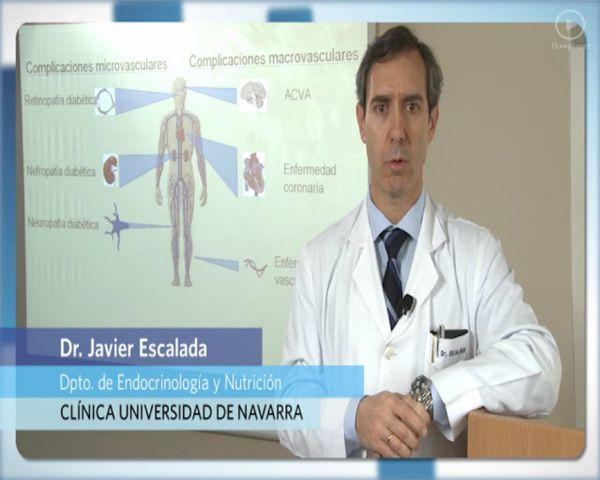 El Dr. Escalada, especialista del Departamento de Endocrinología y Nutrición, habla sobre las complicaciones de la diabetes.