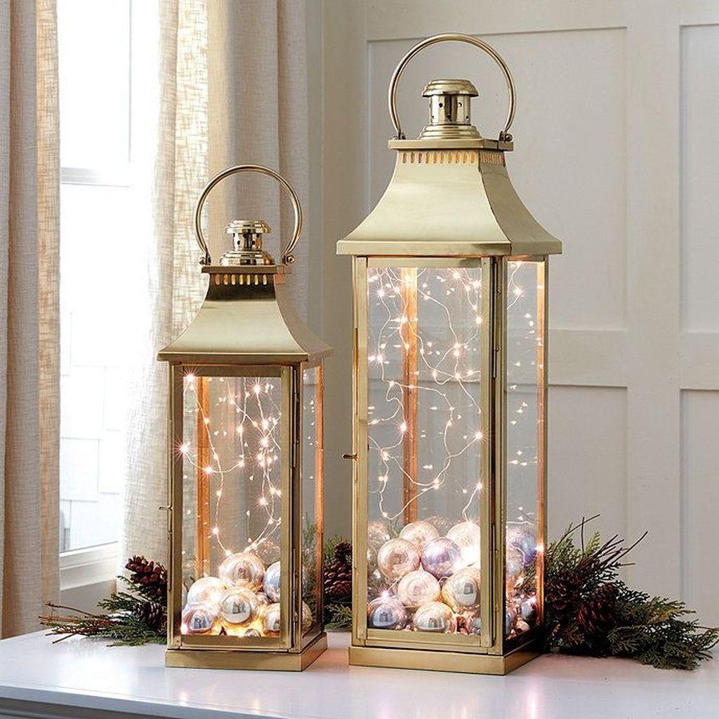 32 Inspiring Winter Lantern Centerpieces Decor Ideas Christmas Lanterns Christmas Decor Diy Lantern Centerpieces