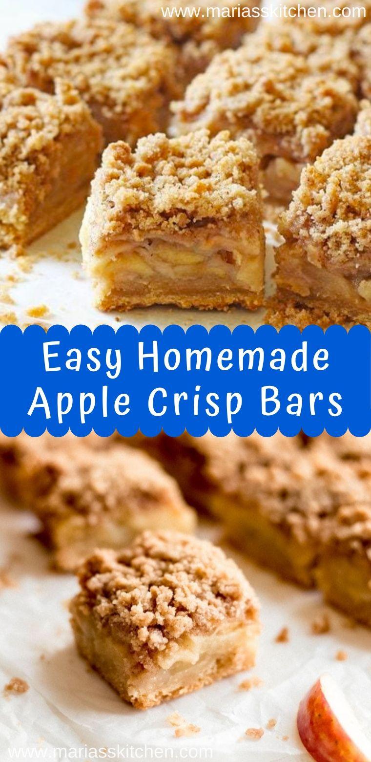Easy Homemade Apple Crisp Bars Recipe