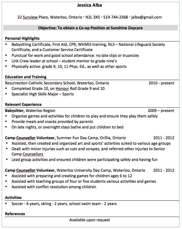 Sample Babysitter Resume Examples Resume Cv Babysitter Resume Resume Examples Resume Cv