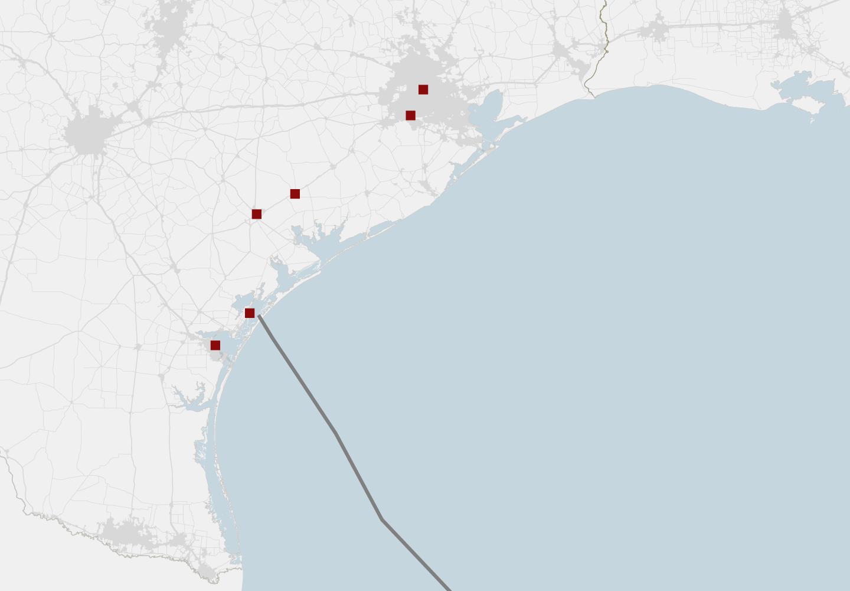 Maps Tracking Harvey S Destructive Path Through Texas And Louisiana Harvey Paths Map