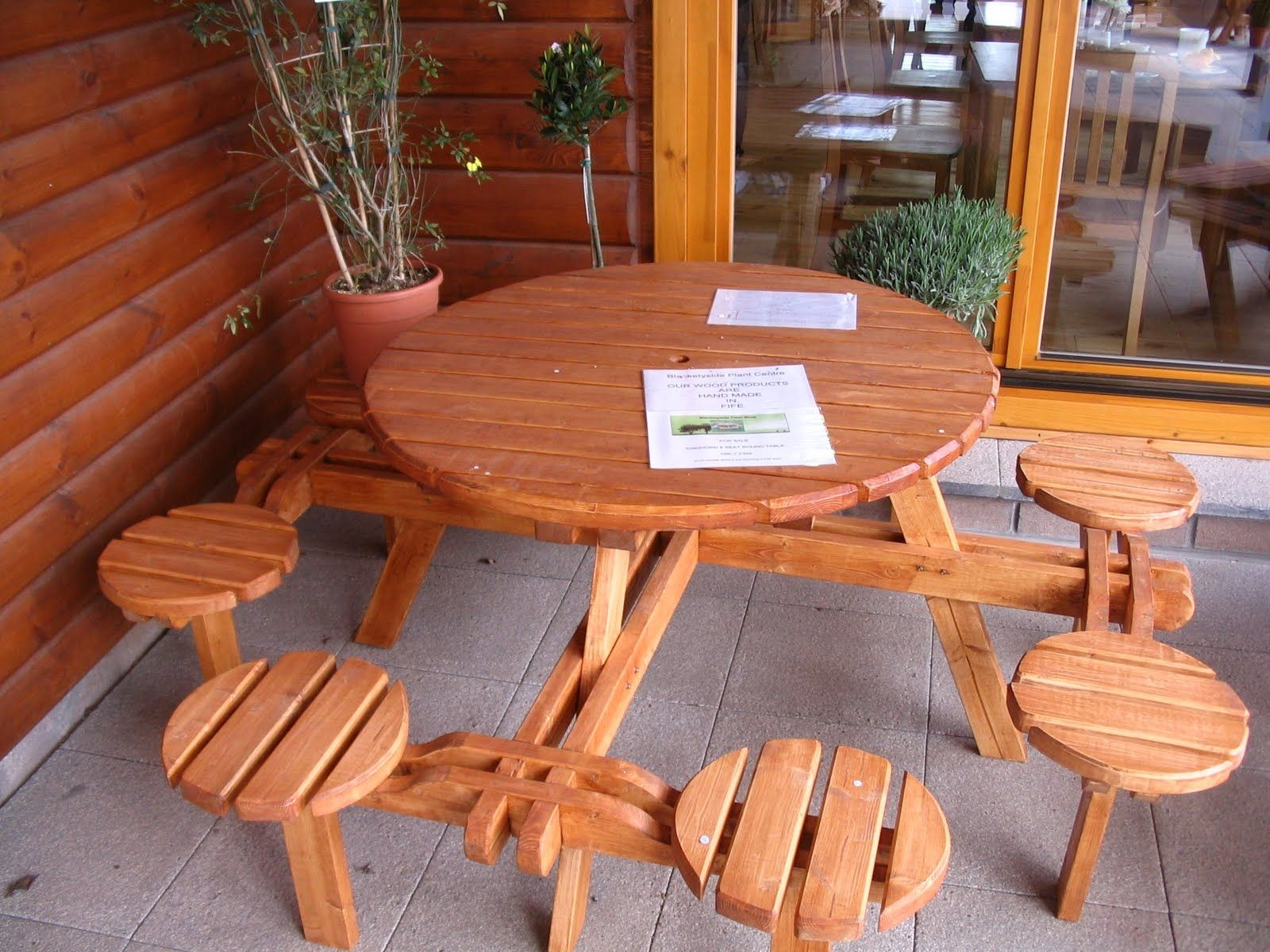 Seater Round Picnic Table Plans Httparghartscom Pinterest - 8 seater round picnic table