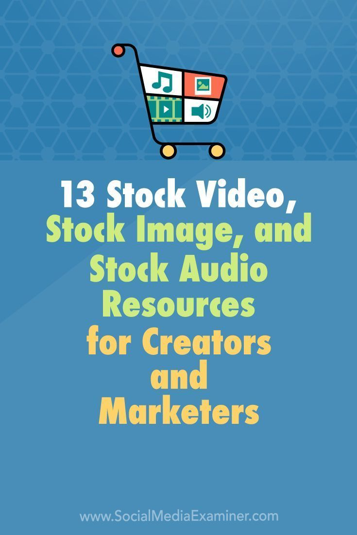 Do you want to enhance the videos and graphics you produce?  Looking for affordable stock photos, video clips, and music?  In this article, youll discover 13 places where creators and marketers can find quality stock imagery and media files. #socialmedi
