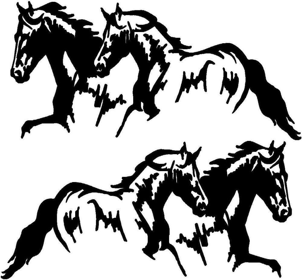 HORSES HEAD Horsebox Trailer Vinyl Stickers Decals Graphics XL