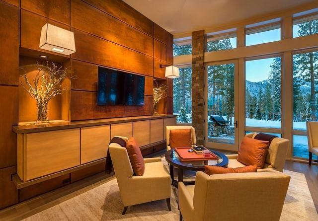 Wohnzimmer Paneele ~ Wandgestaltung dekorative paneele wohnzimmer cortenstahl optik