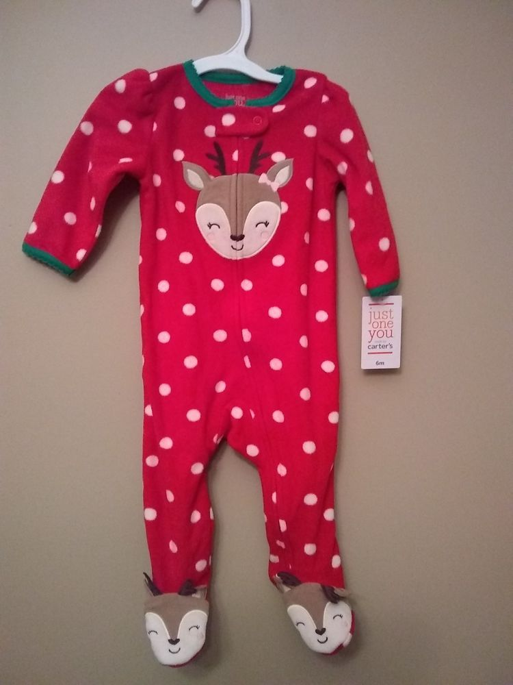 7ae96c0d5 Brand New Carter s just one you Christmas pajamas 6m