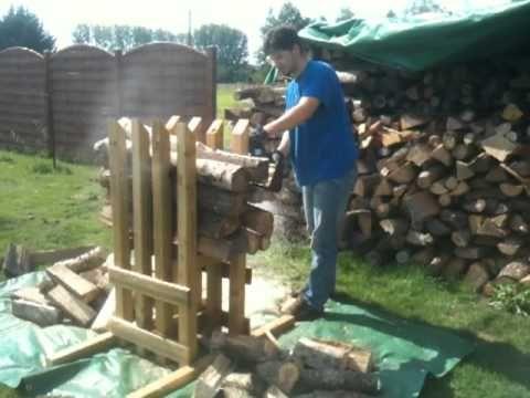 Chevalet pour d biter du bois de chauffage en buche de 30 cm ou 50 cm forestry pinterest - Chevalet pour couper du bois ...