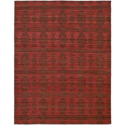 Wildon Home ® Endura Charcoal/Red Area Rug