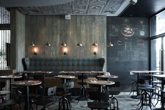 industrial design restaurant dark wood a room shown in the picture also has a dark