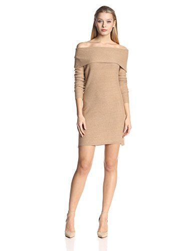HALSTON HERITAGE Women's Cashmere Long Sleeve Off Shoulder Sweater ...