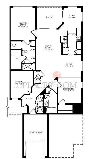 Egret Floorplan | 1536 Sq. Ft. | Del Webb Ponte Vedra | 55 Places